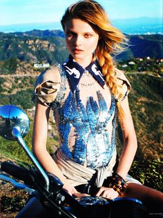 Magdalena Frackowiak by Horst Diekgerdes | Vogue Germany May 2010