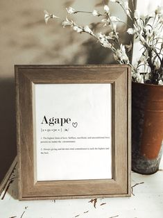 Agape Love Definition Print Love Definition Print INSTANT | Etsy