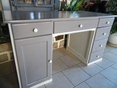 peindre bureau gris et blanc - Lilo
