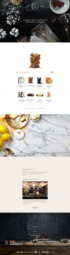 Brand identity inspiration Powerful single page website for Mah Ze Dahr Bakery. Design and development by W&Co. Web Design Trends, Design Websites, Web Ui Design, Menu Design, Page Design, Layout Design, Bakery Design, Design Ideas, Website Layout