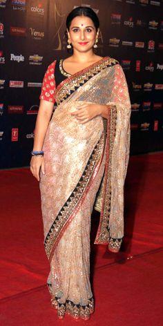 Vidya Balan wears Sabyasachi www.sabyasachiandmukherjee.blogspot.co.uk