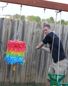 made this pinata for cinco de mayo.  It was awesome!