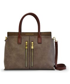 Adrienne Vittadini Stone Double-Zip Tote by Adrienne Vittadini #zulily #zulilyfinds