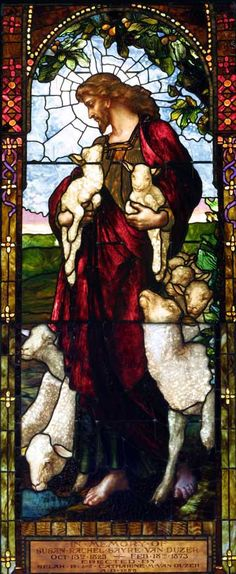 "#Tiffany  --  ""Good Shepherd"" Stained Glass Window @ The First Presbyterian, Horseheads NY"