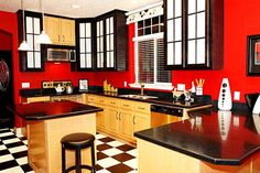 Interesting Kitchen Decor Style with Cheery and Apple Blossoms