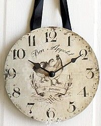 French Country Chicken Bon Appetit Clock