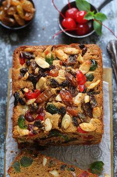 Best Ideas For Fruit Desserts Christmas Food English Fruit Cake Recipe, Fruit Cake Cookies Recipe, Fruit Cakes, British Cake, Resep Cake, Bread Cake, Christmas Desserts, Cake Recipes, Food And Drink