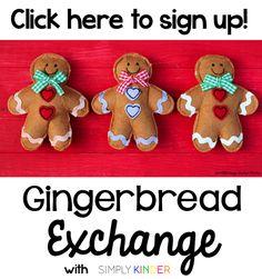 Simply Kinder: 2014 Gingerbread Exchange School Holiday Activities, Book Activities, School Holidays, Happy Holidays, Holiday Fun, Holiday Ideas, Gingerbread Man Activities, Kindergarten Projects, School Songs