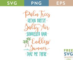 FREE SVG CUT FILE for Cricut, Silhouette and more - Palm Tree Summer