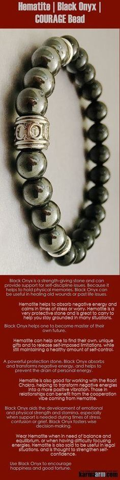 Hematite is good for working with the #Root #Chakra, transforming negative energies into positive #vibrations. Those in #relationships can benefit from the cooperation #vibe coming from #Hematite. #Courage #Onyx #black  #Law #Attraction #LOA #Love #Beaded #Bracelet #Yoga #Chakra #Mala #Stretch #Meditation #handmade #Jewelry #Energy #Healing #gratitude #gifts #Crystals #Stacks #pulseiras #Bijoux #Handmade #Reiki #Mala #Buddhist #Charm #Mens #Womens #For #Her #Him….#
