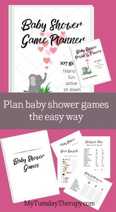 19 baby shower game printables included in the baby shower collection of 107 games and activity ideas. Hilarious baby shower games, fun baby shower games, easy baby shower games, baby shower activities and crafts Easy Baby Shower Games, Budget Baby Shower, Baby Shower Prizes, Baby Girl Shower Themes, Simple Baby Shower, Beautiful Baby Shower, Baby Shower Activities, Baby Shower Favors, Cheap Baby Shower Decorations