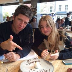 Noel Gallagher with her daughter Anaïs Gallagher