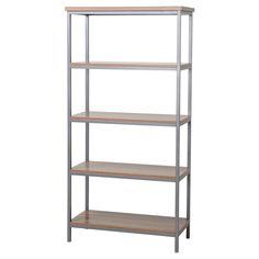 The Homestar Bookcase comes in a Natural finish with powder-coated steel frame is the perfect fit for a small space. It has 4 large storage shelves and is a great piece to complete a room. You can also pair it with the matching Laptop Desk and Filing Cabinet to complete that home office you've always wanted.