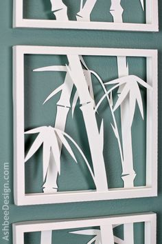 Ashbee Design: Zen Art with Bamboo Silhouettes • DIY