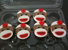 Of course there would be sock monkey cupcakes! Sock Monkey Cupcakes, Sock Monkey Party, Sock Monkey Birthday, Monkey Birthday Parties, Yummy Cupcakes, Fancy Cupcakes, 21st Birthday, Birthday Cakes, Birthday Ideas