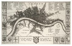 Related posts: – Old maps and views of Century London – The Great Fire of London … London maps Old Maps Of London, London Map, Old London, London City, Vintage London, London Bridge, London Travel, Great Plague Of London, Great Fire Of London