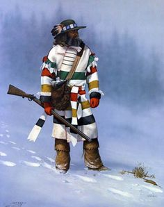 Trappers and Woodsmen - David Gröger - Re-Wilding Western World, Western Art, Rocky Mountains, Le Castor, Mountain Man Rendezvous, Hudson Bay Blanket, Hunting Art, Fur Trade, Into The West