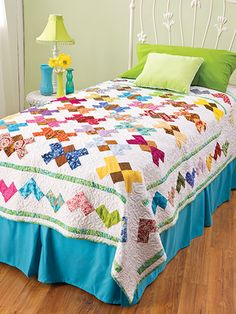 Quilting - Patterns for Children & Babies - Bed Quilt Patterns - Charming Butterflies