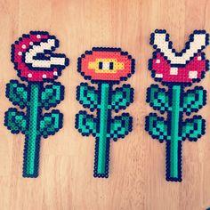 Mario plants hama beads by jo_coulson82