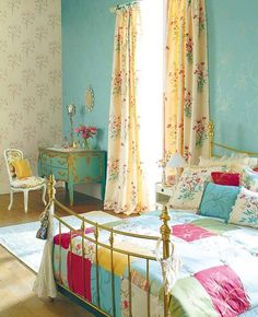 Not my style but nonetheless an adorable happy room Pinned from Denise Squires.