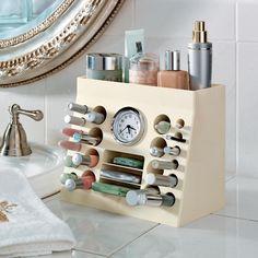 Ganhe mais tempo organizando melhor sua maquiagem. Inspire-se com essa ideia!