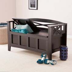 16 Charming Black Storage Bench With Cushion Photos Idea