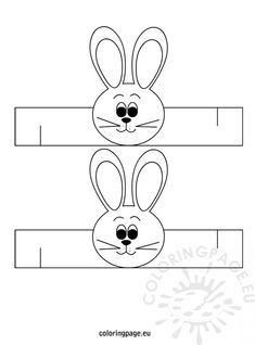 easter-bunny-napkin-ring-template - Do it my self Bunny Crafts, Easter Crafts For Kids, Diy For Kids, Easter Activities, Preschool Crafts, Birthday Party Hats, Easter Printables, Spring Crafts, Easter Bunny
