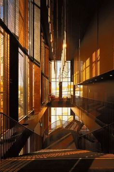 Image 20 of 48 from gallery of Albi Grand Theater / Dominique Perrault Architecture. Photograph by Georges Fessy Theater Architecture, Facade Architecture, Contemporary Architecture, Carl Stahl, Architecture Classique, Roof Plan, Construction, Theater Seating, Commercial Interiors