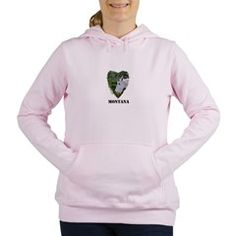 Montana Mountain Goat Women's Hooded Sweatshirt
