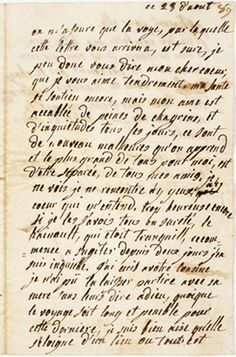 Letter to the duchesse de Polignac from Marie Antoinette, dated 23 August 1790 (Archives Nationales)