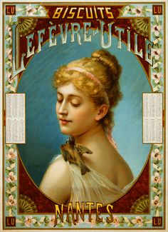 Biscuits Lefevre-Utile Poster by A.J. Chantron