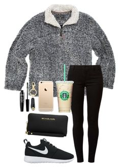 """""""Ootd"""" by whalesandprints ❤ liked on Polyvore featuring True Grit, Dorothy Perkins, NIKE, Tory Burch, NYX and Michael Kors"""