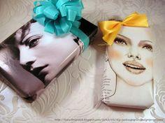 Pak een cadeautje in met een pagina uit een magazine en leuk deze op met een strik of haarband. http://www.joydelaluz.com/blog/2012/03/08/diy-cadeautjes-inpakken/#