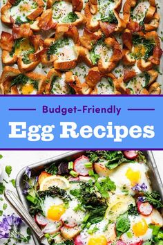 16 Budget-Friendly Ways To Cook Eggs For Dinner Egg Recipes For Dinner, Vegetarian Breakfast Recipes, Ovo Vegetarian, Paleo Dinner, Dinner Ideas, Budget Freezer Meals, Frugal Meals, Budget Recipes, Free Recipes