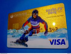 Russia VISA GOLD SBERBANK Credit Card №2 SOCHI Olympic Games - Credit Cards (Exp. Date Min. 10 Years)