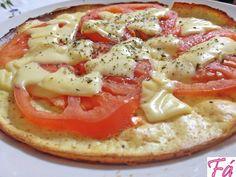 Pizza sem farelos Dukan | Fabíola Bianco
