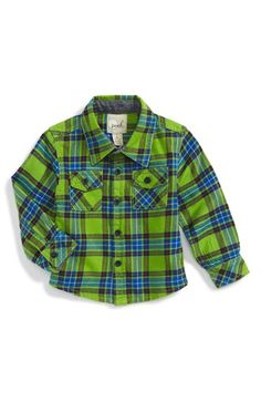 Peek 'Cody' Bright Plaid Flannel Shirt (Baby Boys) available at #Nordstrom