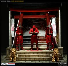 So you've got all of these cool #GIJoe 12 inch figures, but they look kinda bored just standing there. Now you can dynamically display your #GIJoe figures with the #Arashikage Temple 12 Inch Figure Environment. Perfect for Snake Eyes, Storm Shadow or any other GI Joe 12 inch figures, add the Arashikage Temple to your collection today.
