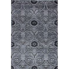 ECARPETGALLERY Jules Ushak Hand-Knotted Gray/Black Area Rug
