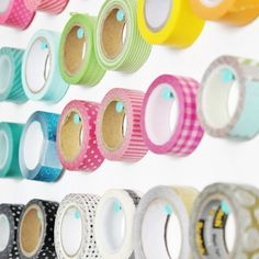Super easy washi tape storage that doubles as wall art!