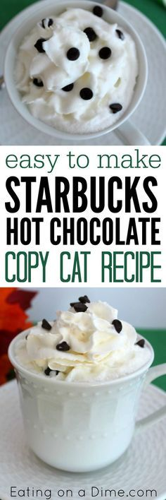 Easy to make Starbucks hot chocolate copycat recipe.  Today I'm showing you how to make Hot Chocolate Starbucks Recipe. Yes, this easy copycat recipe tastes just like the one you can snag at Starbucks, but you can make it at home and save a ton of money.