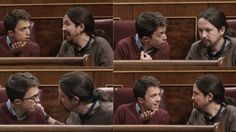 PODEMOS    Iglesias y Errejón llevan su disputa al escaño del Congreso    El líder y su 'número dos' alcanzan al final un acuerdo de mínim...