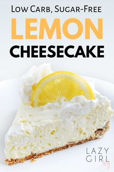 Sugar Free Desserts, Low Carb Desserts, Easy Desserts, Low Carb Recipes, Dessert Recipes, Sugar Free Lemon Cake, Tuna Recipes, Diabetic Desserts, Protein Recipes