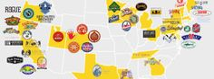 The Top 50 Craft Breweries In The US - MAP
