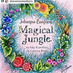 """127 Likes, 1 Comments - #prazeremcolorir_e_desafiar (@prazeremcolorir_e_desafiar) on Instagram: """"Very good@coloringpasttime with @repostapp ・・・ Another finished page from Enchanted Forest :)…"""""""