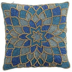 Discover unique patterned pillows and other decorative accent pillows at Pier 1 Imports. Pillow Embroidery, Bead Embroidery Patterns, Bead Embroidery Jewelry, Hand Embroidery Designs, Beaded Embroidery, Purple Pillows, Diy Pillows, Decorative Throw Pillows, Cushions