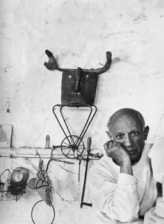 Pablo Picasso  June 2, 1954 in Vallauris, France.