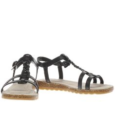 womens hush puppies black ainsley jade sandals