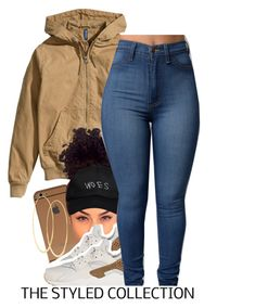 """""""fall wear. 8.20"""" by trinityannetrinity ❤ liked on Polyvore featuring H&M, Lana, NIKE and October's Very Own"""
