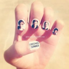How to make my nails As you all recently have seen, I have created my very own 5 Seconds of Summer nails:) Many people have asked me how I did my nails, so I thought it would be a great idea. 5sos Nails, Super Cute Nails, Dry Nails, Nails Tumblr, Second Of Summer, Summer 3, Fabulous Nails, Cute Nail Designs, My Escape